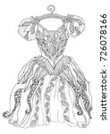 Hand Drawn Dress. Sketch For...