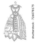 hand drawn dress. sketch for... | Shutterstock .eps vector #726078175