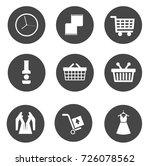 shopping icons | Shutterstock .eps vector #726078562