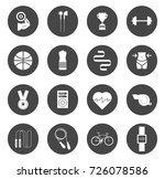 fitness icons | Shutterstock .eps vector #726078586