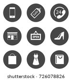 shopping icons | Shutterstock .eps vector #726078826