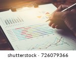 business report plan put on the ... | Shutterstock . vector #726079366