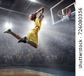 basketball player on big...   Shutterstock . vector #726080356
