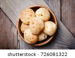 homemade cheese buns in bowl.... | Shutterstock . vector #726081322