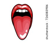 fashion girls lips with red... | Shutterstock . vector #726083986