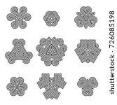 vector black monochrome celtic...   Shutterstock .eps vector #726085198