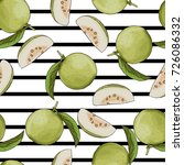 seamless guava background for... | Shutterstock .eps vector #726086332