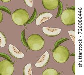 seamless guava background for... | Shutterstock .eps vector #726086446