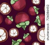 vector seamless mangosteen... | Shutterstock .eps vector #726086452