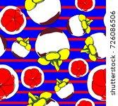 vector seamless mangosteen...   Shutterstock .eps vector #726086506