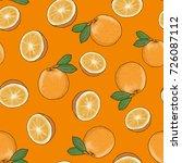 orange seamless backgrounds ... | Shutterstock .eps vector #726087112