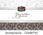 abstract invitation frame... | Shutterstock .eps vector #72608731