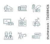 tv and media news vector icons... | Shutterstock .eps vector #726088426