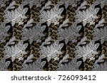 vintage seamless pattern on a... | Shutterstock . vector #726093412