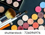 make up colorful eyeshadow...   Shutterstock . vector #726096976