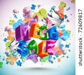 mega sale | Shutterstock . vector #72609817
