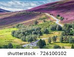 picturesque road in scottish... | Shutterstock . vector #726100102