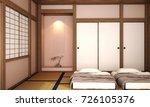interior design bed room with... | Shutterstock . vector #726105376