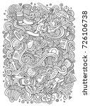 cartoon cute doodles hand drawn ...   Shutterstock .eps vector #726106738