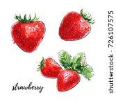 hand drawn watercolor... | Shutterstock . vector #726107575