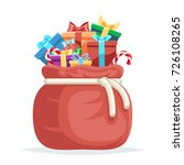 bag full gifts christmas new... | Shutterstock .eps vector #726108265