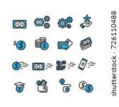 money set icons vector | Shutterstock .eps vector #726110488