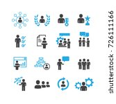 business and person icons set... | Shutterstock .eps vector #726111166