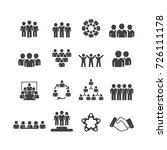person and team icons set vector | Shutterstock .eps vector #726111178