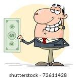 businessman shows big dollar   Shutterstock . vector #72611428
