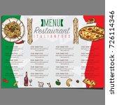 menu italian food template... | Shutterstock .eps vector #726114346