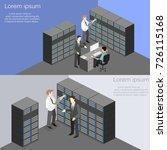 isometric interior of server... | Shutterstock .eps vector #726115168
