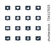 social net notifications vector ... | Shutterstock .eps vector #726117025