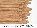 stack of new wooden planks... | Shutterstock . vector #726118222