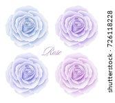 set of roses flowers isolated... | Shutterstock .eps vector #726118228