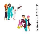 vector flat cartoon male doctor ... | Shutterstock .eps vector #726126295