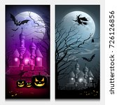 vector happy halloween... | Shutterstock .eps vector #726126856