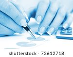 financial charts and graphs on... | Shutterstock . vector #72612718