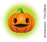 theme of halloween. isolated... | Shutterstock .eps vector #726128836