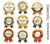 premium commercials golden... | Shutterstock .eps vector #726130852