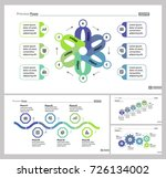 four strategy slide templates... | Shutterstock .eps vector #726134002