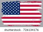 grunge usa flag.vector american ...   Shutterstock .eps vector #726134176