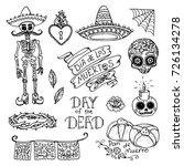 dia de los muertos   day of the ... | Shutterstock .eps vector #726134278