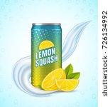 realistic aluminum cans. vector ... | Shutterstock .eps vector #726134992