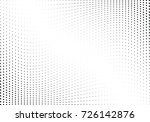 abstract halftone wave dotted... | Shutterstock .eps vector #726142876