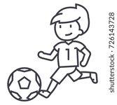Soccer Boy Playing Football...