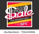 black friday sale. sale banner... | Shutterstock .eps vector #726144406