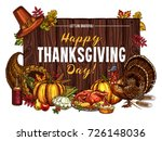 thanksgiving day greeting...   Shutterstock .eps vector #726148036