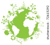 green and clean earth | Shutterstock .eps vector #72615292