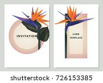 Bird Of Paradise Flowers And...