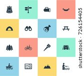 vector illustration set of... | Shutterstock .eps vector #726154405